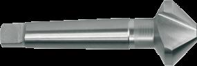 HSS-Kegelsenker mit 3 Schneiden DIN 335 D x 90°, mit MK-Schaft, 40 - 50 - 63 - 80 - 100 mm