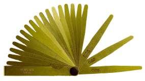 Präzisions-Fühlerlehren aus Messing, Fühllehre, antimagnetisch, konisch, 8-20 Blatt, L/B: 100mm/ 12,