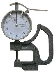Dicken-Messgerät mit flachem Teller, Ablesung 0,01 mm