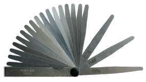 Präzisions-Fühlerlehren, Fühllehre, INOX konisch, 8 - 20 Blatt, L/B:100 mm/ 12,7 mm
