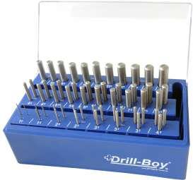 55-tlg. PROFI Spiralbohrer Satz Drill-Boy Ständer m. Sortierfunktion DIN 338 HSSG Ecotec 1 - 13 mm