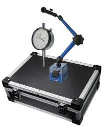 Messuhr und Stativ im Alukoffer (31,5 x 22 x 11,5 cm) Höhe 345mm
