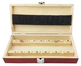 Holzkasten für 15 Forstnerbohrer (Kunstlochbohrer) 10-50 mm LEER Holzkassette Holzbox