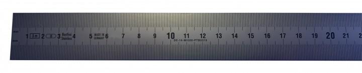 EG Klasse II DIN 2004//22//II Gr/ö/ße: 1000 x 18 x 0,5 mm Rostfreie Stahlma/ßst/äbe