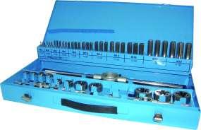 53-tlg. PROFI-Gewindeschneidsatz DIN 352, HSSG, M3 - M20, im Metallkoffer