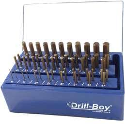 55-tlg. PROFI Spiralbohrer Satz Drill-Boy Ständer m. Sortierfunktion DIN 338 HSS-CO Ecotec 1 - 13 mm