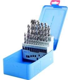 PROFI-DIN 338 Spiralbohrer,Typ VA, HSS-Co5, profilgeschliffen, blank, Metallkassette
