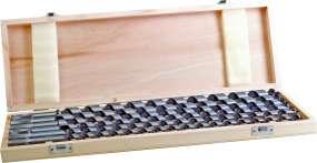 CV-STANDARD-Schlangenbohrer- Satz, im Holzkasten, mit Sechskantschaft, 460/380 mm lg