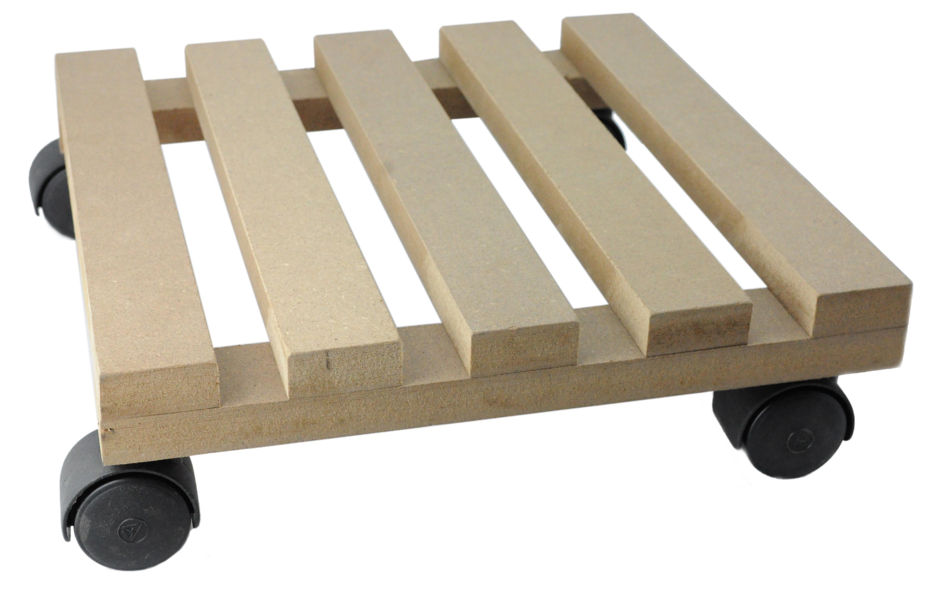 blumenuntersetzer rolluntersetzer pflanzenroller blumenroller aus mdf 30 x 30 cm ebay. Black Bedroom Furniture Sets. Home Design Ideas