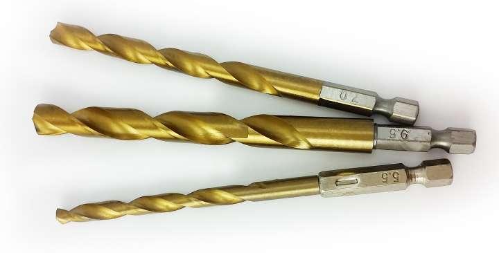 """2Set HSS Wendelbohrer Titan Schicht 1//4/"""" Sechskantschaft 1,5-6,5mm Bohren Dmr."""