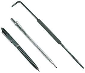 Reißnadel mit gehärteten Stahlspitzen (250 mm)