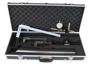 Bremsenprüfsatz 6-teilig, mit Bremstrommel-Messschieber 50 - 550 mm