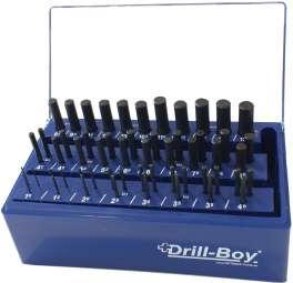 55-tlg. Spiralbohrer Satz Drill-Boy Ständer m. Sortierfunktion DIN 338 rollgewalzt 1 - 13 mm