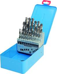 PROFI-DIN 338 Spiralbohrer,Typ Uni-FL, HSS-Co5, profilgeschliffen, blank, Metallkassette