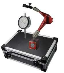 Messuhr und Stativ im Alukoffer (31,5 x 22 x 11,5 cm) Höhe 375mm