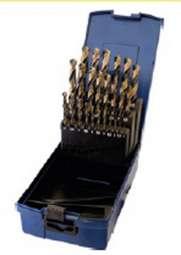 25-teiliger Satz HSS-GK RATIO Spiralbohrer DIN 338, Typ N-UNI, rechts, in Rose-Kunststoffkassette