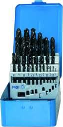 PROFI-DIN 338 Spiralbohrer, HSS, profilgeschliffen, schwarz, Rose-Kunststoffkassette