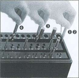 55-tlg. PROFI Spiralbohrer Satz Drill-Boy Ständer m. Sortierfunktion DIN 338 HSS-CO Super 1 - 13 mm