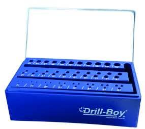 Drill-Boy Kunststoffständer LEER Bohrerbrett m. Sortierfunktion für 55 Spiralbohrer DIN 338 1-13 mm