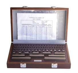 Endmasssatz aus Spezialstahl, gehärtet, Satz: 8 Stück 125-500mm