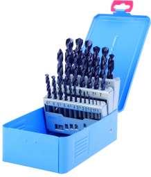 PROFI-DIN 338 Spiralbohrer, Typ VA, HSS-Co5-TIALN, profilgeschliffen, Metallkassette