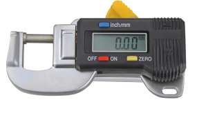 """Digital-Dicken-Messgerät, Ablesung 0,01 mm oder 0,0005"""" , Ausladung 19,7mm"""