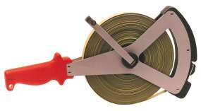 Stahlbandmaß mm-Duplexteilung nach EG Klasse II, in V-Rahmen, 20-30-50 m