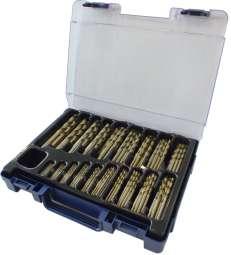 70-tlg. Spiralbohrer-Satz DIN 338 HSSE CO Cobalt, in ROSE Koffer, 1-10 x 0,5 mm