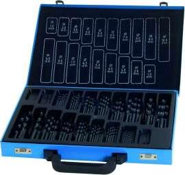 170-tlg. Spiralbohrer-Satz, HSS, DIN 338 N, 1 - 10 mm x 0,5 mm