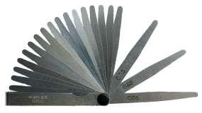 Präzisions-Fühlerlehren Fühllehre, konisch, 8 - 32 Blatt, L/B 100 mm/12,7 mm