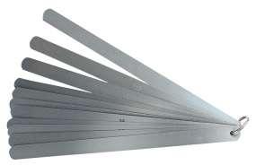 Präzisions-Fühlerlehren, zylindrisch, Fühllehre rostfrei, 13 Blatt, 100-500 mm