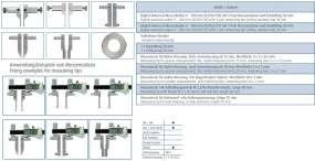Digital-Universal-Messschieber / Schieblehre im Satz 7-tlg. mit PRESET-Funktion